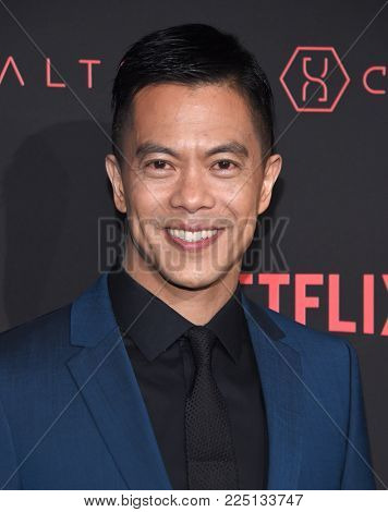 LOS ANGELES - FEB 01:  Byron Mann arrives for the Netflix's 'Altered Carbon' Season 1 Premiere on February 1, 2018 in Los Angeles, CA