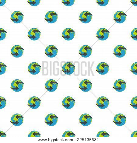 Moving earth pattern seamless in flat style for any design