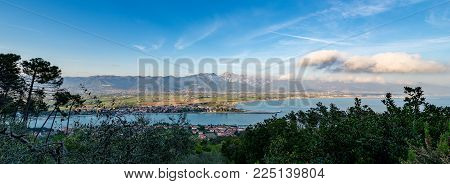 Versilia Coast With The Magra River, The Ligurian Sea, The Apennines And The Apuan Alps. Tuscany, Li