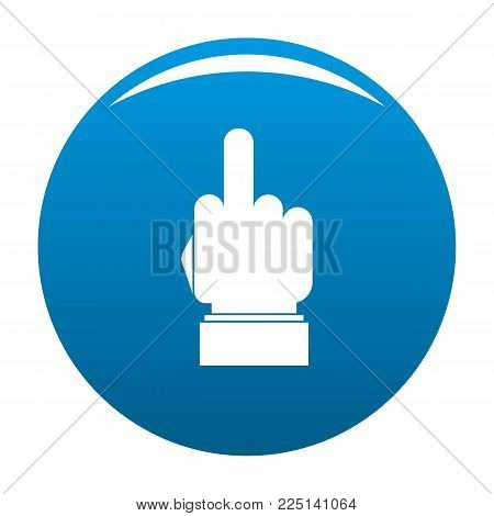 Hand censorship icon vector blue circle isolated on white background