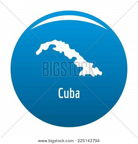 Cuba map in black. Simple illustration of Cuba map vector isolated on white background