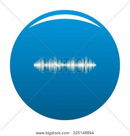 Equalizer voice icon vector blue circle isolated on white background