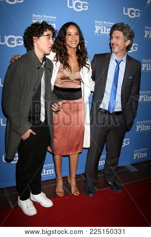 SANTA BARBARA - FEB 3:  Kai Miles Land, Dania Ramirez, Bev Land at the 33rd Santa Barbara International Film Festival Virtuosos Award at Arlington Theater on February 3, 2018 in Santa Barbara, CA