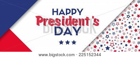 President's day vector greeting card. Banner template