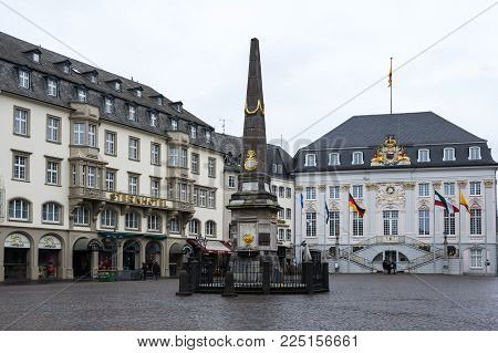 BONN, GERMANY - FEBRUARY 21, 2016: Old houses in Bonn, a city on the banks of the Rhine in the German state of North Rhine-Westphalia, Germany