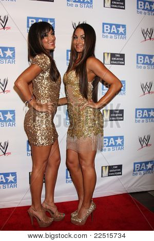 LOS ANGELES - AUG 11:  Brie Bella, Nikki Bella arriving at the
