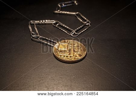 Block chain as a concept of clerical clips that are connected to each other. Each e-currency coin has a block of each transaction that is written into the code as a paper clip.