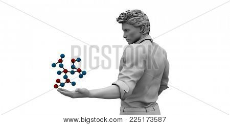 Bioscience or Biology Science as Biological Concept 3D Render