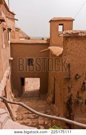 Narrow Streets Of Berber Village Of Ait Ben Haddou, Unesco World Heritage Site In Morocco, Africa