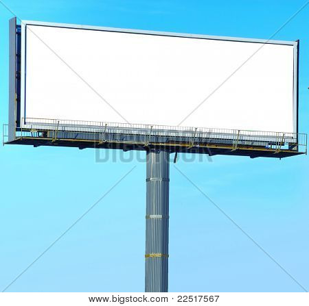 Billboard Copyspace Outdoor Advertising white Canvas