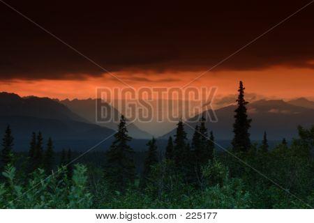 Horizontal Sunset Beam
