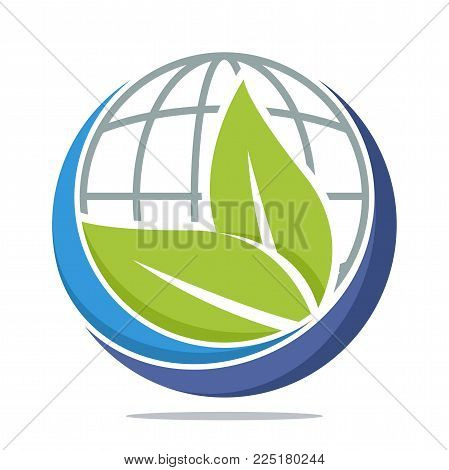 icon logo with the concept of environmentally sustainable earth