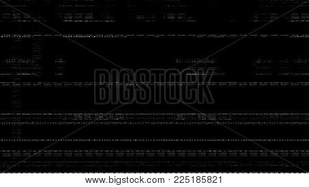 Television screen with static noise caused by bad signal reception, analog vintage TV signal with bad interference, static noise background. No signal TV illustration. Error concept.