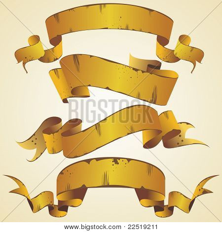 vector gold banner