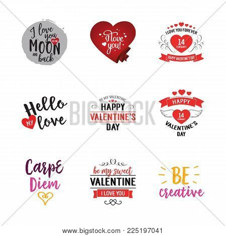 My love lettering set. Valentines day, celebration, romance, bonding. Calligraphy, handwritten text can be used for greeting cards, posters, banners, festive designs, leaflets