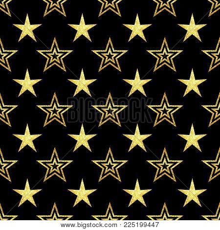 Golden stars ,shape, abstract, decoration, design, star, backdrop, texture, background, pattern, illustration, geometric, holiday, creative, art, beautiful, banner, template, fabric, seamless, line, graphic, black, golden stars on black background seamles
