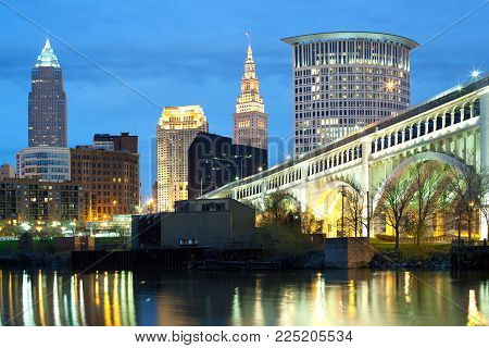Downtown skyline of the city of Cleveland, Ohio