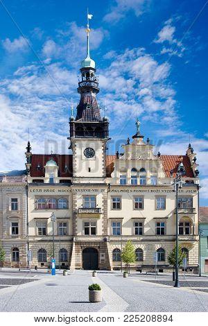 CZECH REPUBLIC, KLADNO - SETP 18, 2015: town hall,  historical town center of town Kladno, Central Bohemia, Czech republic