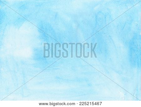 Abstract ink blue aquarel watercolor splash hand paint on white background
