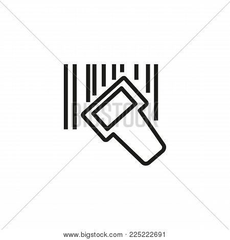 Icon of QR code reader. Barcode, identification, discount. Scanner concept. Can be used for topics like warehouse, post, supermarket