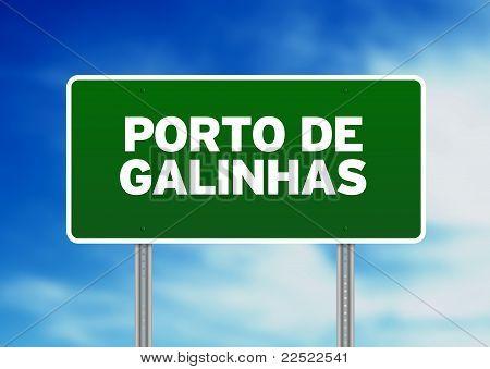 Green Road Sign - Porto De Galinhas