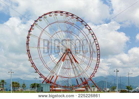 View of Ferris wheel on Batumi boulevard. Georgia poster