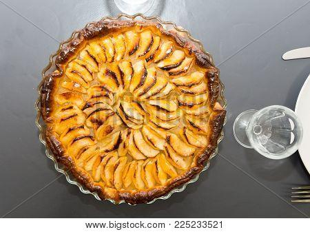 view of a  homemade apple pie tart