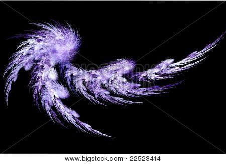 Light purple abstract feather