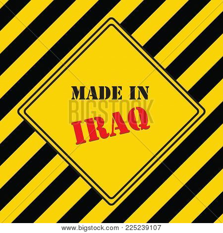 The industrial symbol is made in Iraq