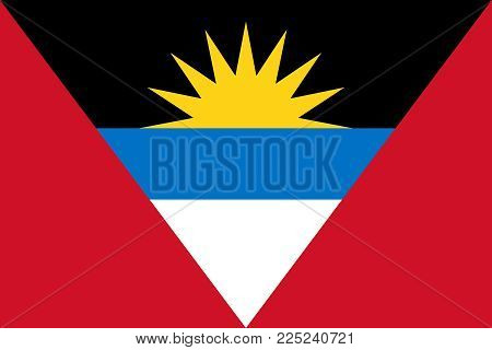 Official Large Flat Flag of Antigua and Barbuda Horizontal