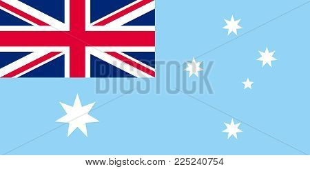 Unofficial Large Flat Flag of Australian Antarctic Territory Horizontal poster