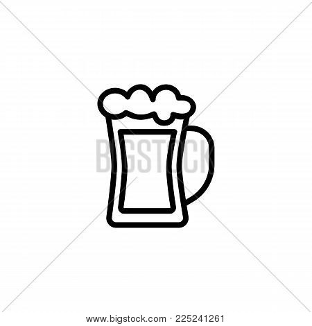 Icon of beer mug. Glass, stout, ale. Beer concept. Can be used for topics like beerhouse, pub, octoberfest