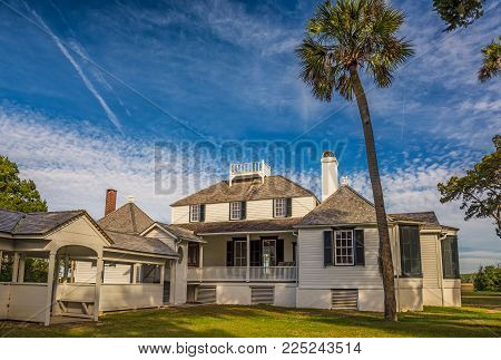 JACKSONVILLE, FLORIDA - JANUARY 18, 2015 :  Kingsley Plantation in Jacksonville. It was built in 1797 or 1798 and named after an owner, shipping magnate and slave trader Zephaniah Kingsley.