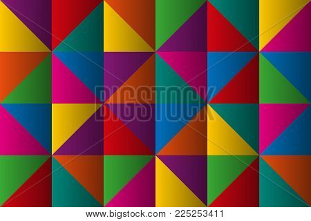 Vector Triangles With Color Gradient, Anstract Colorful Geometric Triangular Background