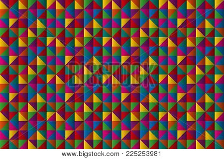 Abstract Mini Triangles Background, Geometric Triangular Symbols With Color Gradient