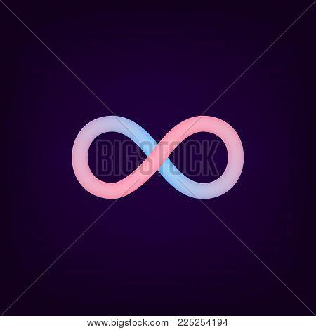 Vector Infinity Symbol Icon. Logo Template. Loop Design. Loop In Infinity Shape