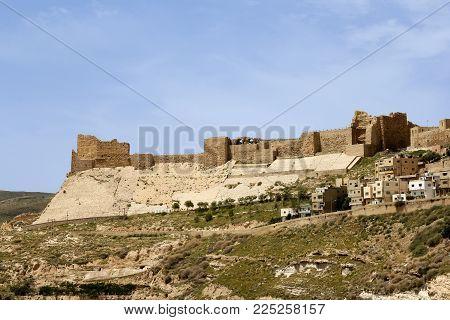 Kerak Castle, A Large Crusader Castle In Kerak, Jordan