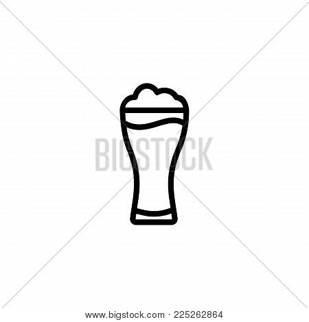 Icon of beer pint. Glass, mug, ale. Beer concept. Can be used for topics like bar, beerhouse, pub