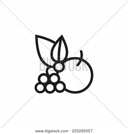 Icon of vegetables. Leaf, fruit, vegan. Food and restaurant concept. Can be used for topics like veganism, logotype, menu.