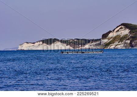 Cliff On The Island Of Corfu, Greece