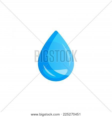 Water drop. Water drop on white background. Can be used with any background
