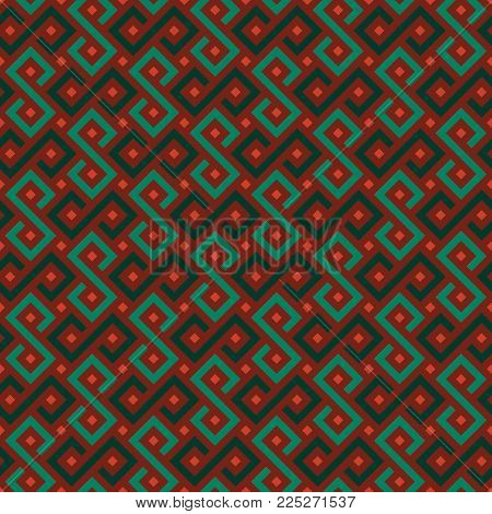 Vector Seamless African pattern. Colorful African geometric ornament.