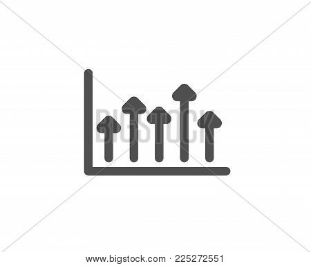 Growth chart simple icon. Financial graph sign. Upper Arrows symbol. Business investment. Quality design elements. Classic style. Vector