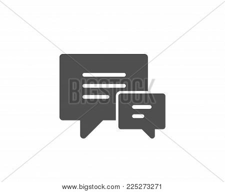 Chat simple icon. Speech bubble sign. Communication or Comment symbol. Quality design elements. Classic style. Vector