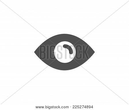 Eye simple icon. Look or Optical Vision sign. View or Watch symbol. Quality design elements. Classic style. Vector