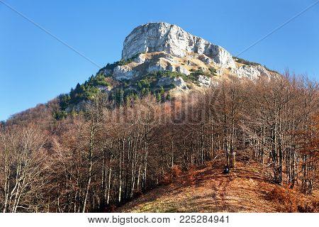 Top of mount Klak, autumnal view from Mala Fatra mountains, Carpathians, Slovakia