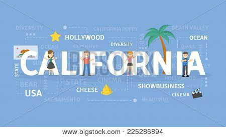 Welcome to California. Visit american state with cinema production.