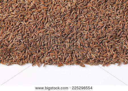 pile of caraway seeds - close up