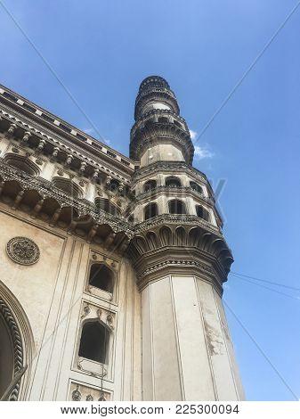 Charminar in Hyderabad in Andhra Pradesh, India