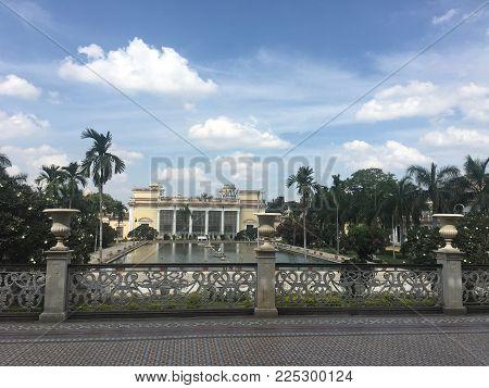 HYDERABAD, INDIA - NOV 16: Chowmahalla Palace in Hyderabad in Andhra Pradesh, India, as seen on Nov 16, 2017.